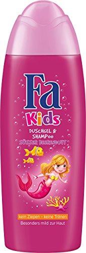 Fa Kids Duschgel & Shampoo Kids Meerjungfrau Süsser Beerenduft, 250 ml