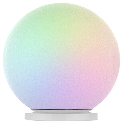 MiPow MIBTL301W-Esfera inalambrica con luz LED Multicolor y Carga por inducción, Sphere, MIBTL301W
