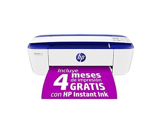 HP DeskJet 3760 T8X19B, Impresora Multifunción A4, Imprime, Escanea y Copia, Wi-Fi, USB 2.0, HP Smart App, Incluye 4 Meses del Servicio Instant Ink, Azul