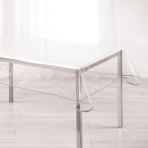 Ligne Decor Douceur d 'Interieur 140 x 240 cm, Color Crystal 15/100e Jardín Biais – Mantel, Color marrón