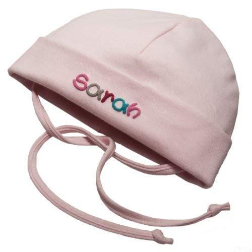 Babymütze mit Namen & Bendel Rosa in verschiedenen Größen - Mütze für Babys...