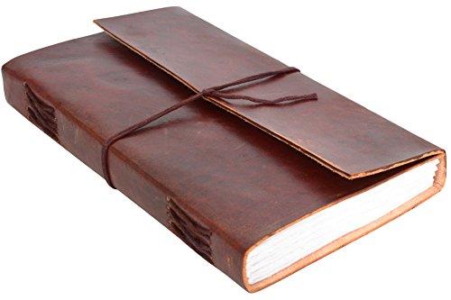 Gusti Notizbuch Leder - Sophia Tagebuch Heft Poesiealbum Zeichenbuch Planer bullet journal DIN A5 Braun