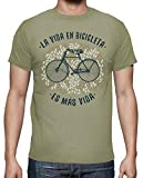 latostadora - Camiseta la Vida en Bicicleta para Hombre Caqui S