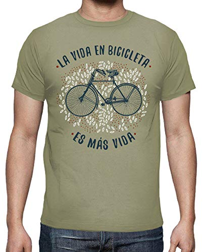 latostadora - Camiseta la Vida en Bicicleta para Hombre