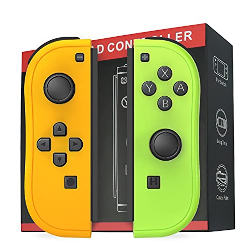 D.Gruoiza Joycon Switch Controllers Have Wake Up Feature, Enhanced Joy-con Remotes Apply to Switch with Grip (Yellow and Green)