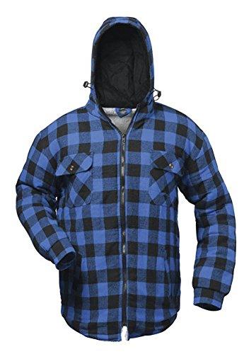 Craftland - Thermo- Hemd Alberta blau/schwarz karriert, mit Kapuze (S)