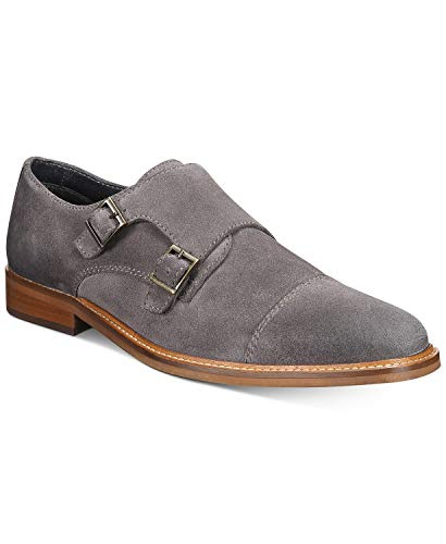 Alfani Darius Monk-Strap Oxfords Grey Size 7.5 M