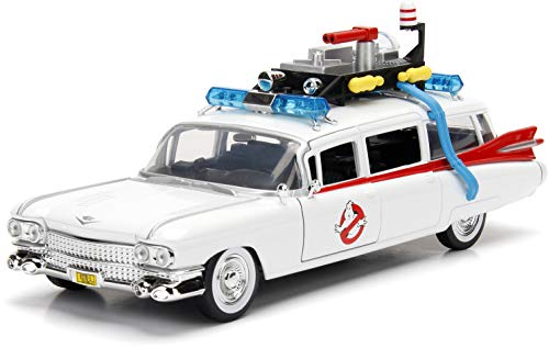 Jada 99731 Toys Hollywood Rides: Ectomobil Ecto-1, Diecast Modellauto Ghostbusters im Maßstab 1/24