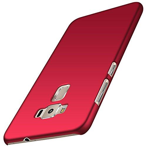 anccer Cover Zenfone 3 ZE552KL [Serie Colorato] di Gomma Rigida Protezione da Cadute e Urti Zenfone 3 ZE552KL (Rosso Liscio)