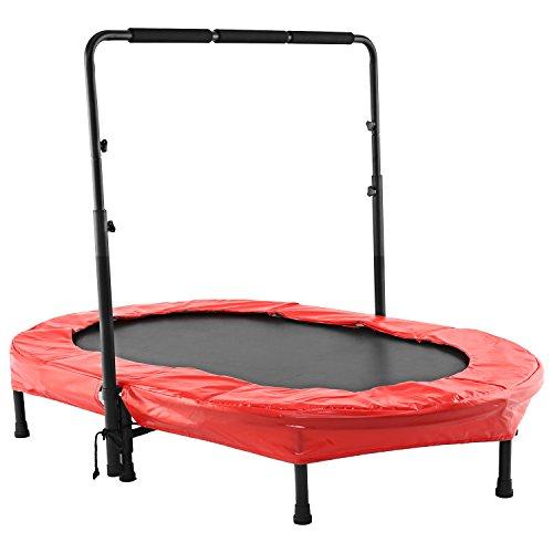 Tomasa, trampolino elastico per fitness, sport e salti, da esterno, con manubrio regolabile