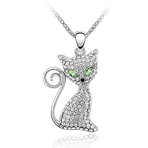 NSXLSCL dames halsketting kristal groen modo vorm dier wekker modesieraad voor dames