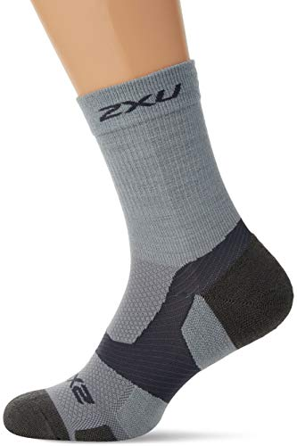 2XU UK Herren Vectr Merino Light Cushion Crew Socken, Grau, L
