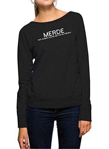 Merde - Shit Always Sounds Better... Sweater Girls Black-S