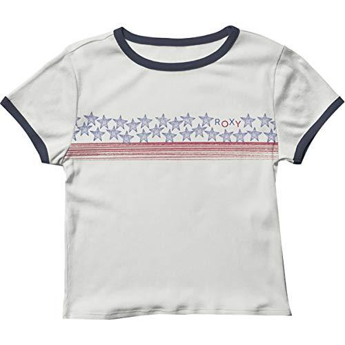 Roxy Camiseta Americana con diseño de estrellas y rayas para mujer - blanco - X-Large