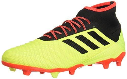 adidas Men's Predator 18.2 FG Soccer Shoe, Solar Yellow/Black/Solar red, 11.5 M US