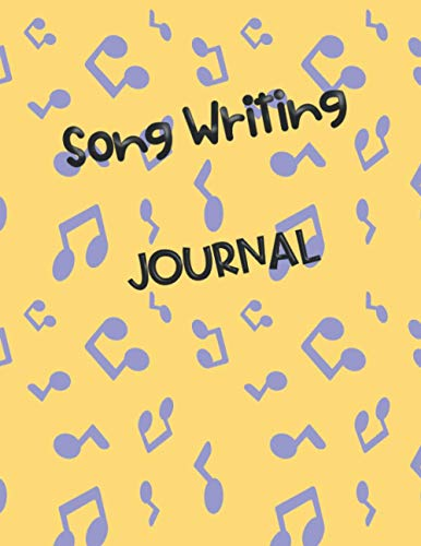 Songwriting Journal: Manuscript Paper For Notes, Playlist Log Book, Gift Idea for Music Lovers, wide-ruled line paper
