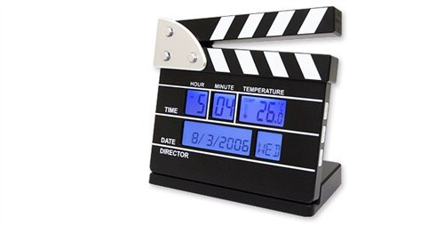 Wecker, digital, Filmklappe, 11 cm