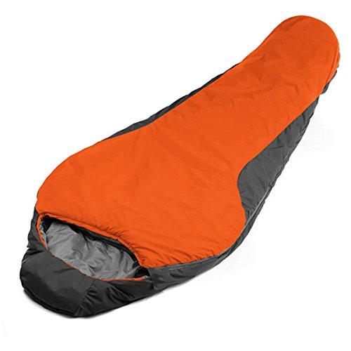 Sac De Couchage Momie Camping Voyages Randonnée Pédestre Et Autres Activités De Plein Air Léger Et Compact Respirant,Orange