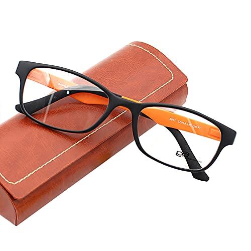 Gafas de Lectura, Gafas de Hombre y Mujer Unisex con Montura de Pasta, Funda Gratis, Gafas de Lectura Anti-Luz Azul de Marco Completo, Bisagras de Resorte, Dioptrías +1.00 hasta +3.50