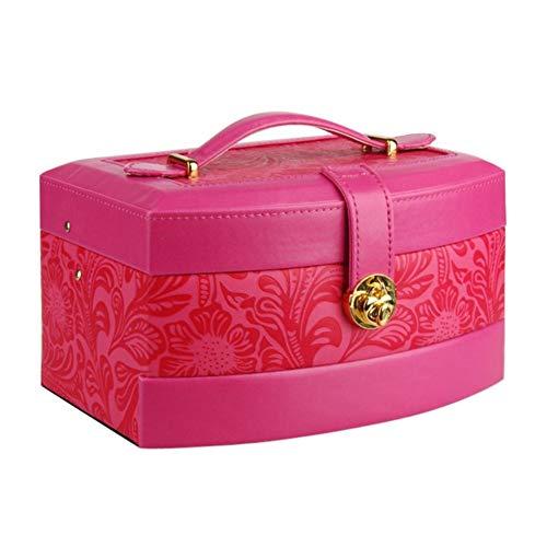 YHDNCG Caja de joyería,Caja de joyería grande,Organizador de exhibición de embalaje,Pendientes collar caja de almacenamiento de joyería,Caja de joyería