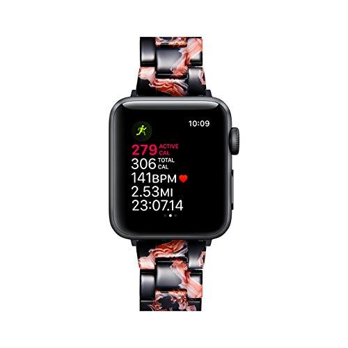BINLUN Pulseras de Repuesto para Smartwatches de Resina Compatibles con Apple Watch Series 1/2/3/4/5/6,SE/Nike/Sport/Hermes/Edition 38mm 40mm Correas de Reloj Resina en 14 Colores para Hombre y Mujer