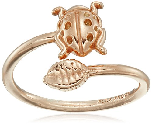 Alex and Ani Women's Ring Wrap Ladybug Rose Gold Plated adjustable