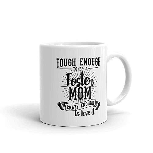 N\A Taza de café para mamá de crianza Regalo de mamá de crianza Regalo del día de la Madre de crianza para mamá de crianza Lo Suficientemente Resistente para ser una mamá de crianza Taza Grande
