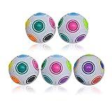 SCXY Pelota de Arco Iris de NBRR, Rainbow Magic Ball Rainbow Puzzle Ball Pop Rainbow Magic Ball Cube Educational Juguete para niños y Adultos