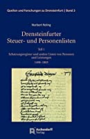 Drensteinfurter Steuer- und Personenlisten: Teil 1: Schatzungsregister und andere Listen von Personen und Leistungen 1498-1803