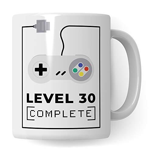Pagma Druck 30. Geburtstag Tasse, Geburtstags-Geschenk Becher, 30 Jahre alt Geschenkidee, Geburtstag 30 Gaming Gamer Zocker Zocken, Kaffeetasse lustig Geburtstagsgeschenk