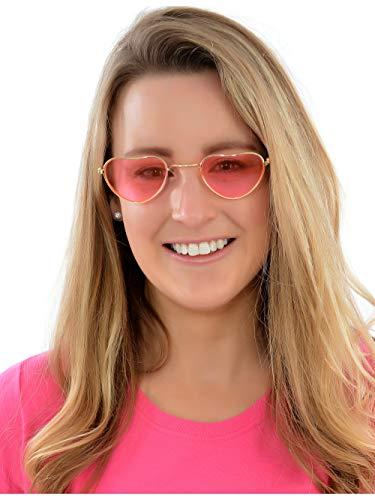 Pink Heart Shaped Hippy Specs for 1970's Fancy Dress
