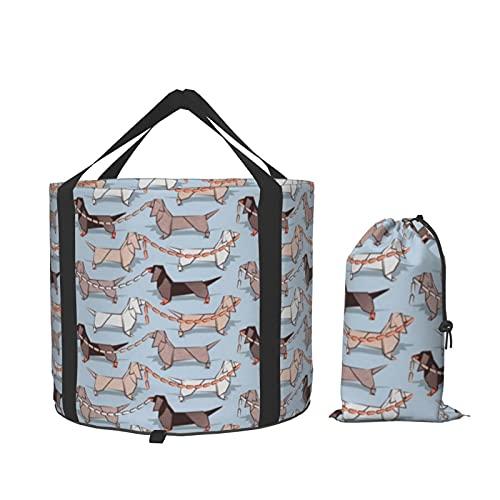 Origami Dachshunds - Cuenca de salchichas para perros, portátil, plegable, plegable, para viajes, para viajes al aire libre, acampada