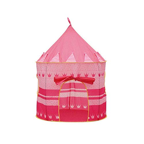 Doyeemei Jardín de Interior al Aire Libre Playa Juguetes Tienda de Juegos Castillo de niños Tienda de Indios portátil para niños Casa de Juegos Yurtas Mongol Tipi Tienda de campaña en casa Pink