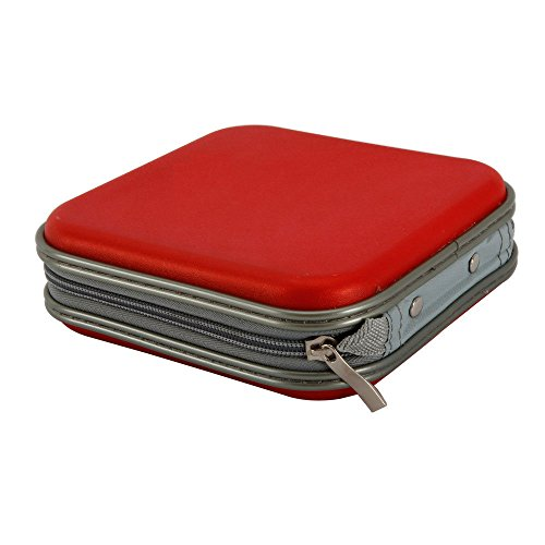 Portable Plastic 40 Disc CD DVD Wallet Storage Organizer Bag Case Red