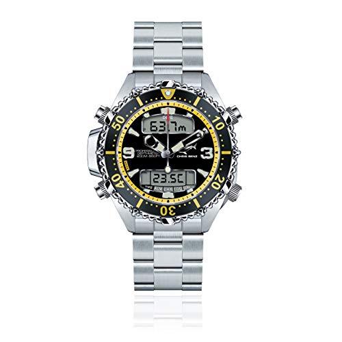 Chris Benz Reloj para Hombre de Cuarzo con Correa en Metal CB-D200X-Y-MB