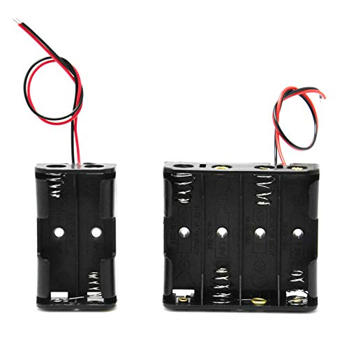 Gikfun Plastic Battery Storage Case Holder for 4 X AA and 2 X AA Wire Leads Arduino EK8304