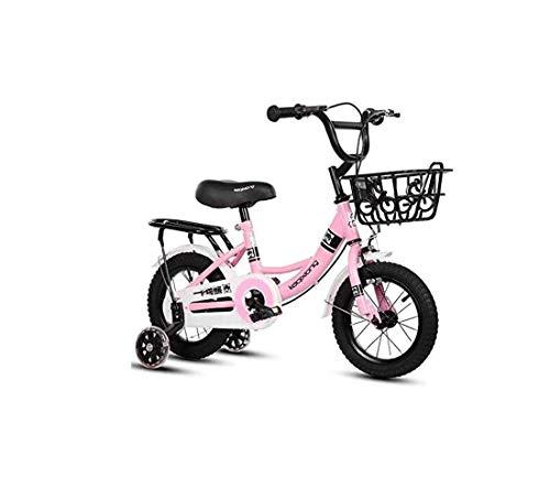 Lz Fiets 2-3-4-6-7-8-9-10 Jaar Oude Kinderen Fietsen Jongens En Meisjes Delen Baby Kinderwagens (Kleur: Roze glitter wiel, Maat : 12inch)