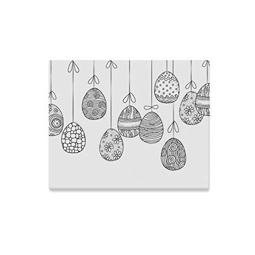 Stampe su tela Sfondo di arte della parete Appendere le uova di Pasqua Decorate a mano Decorazioni con cornice su tela Decorazione artistica con opere d'arte per soggiorno, Decorazioni murali soggior