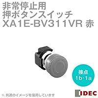 IDEC (アイデック) XA1E-BV311VR φ29中形 プリント基板用端子形プッシュロックターンリセット(非照光式・メイン接点:1b・モニタ接点:1a) 赤 NN