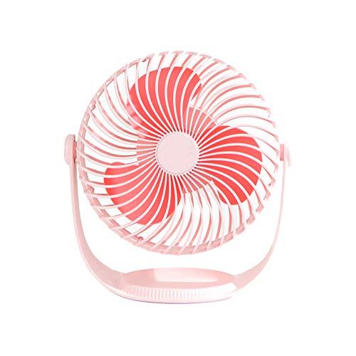 XRX ventilator voor slaapkamers, klein, draagbaar via USB, ventilator met kleine clip voor het bijvullen van tafels, geluidsarme camera-accu