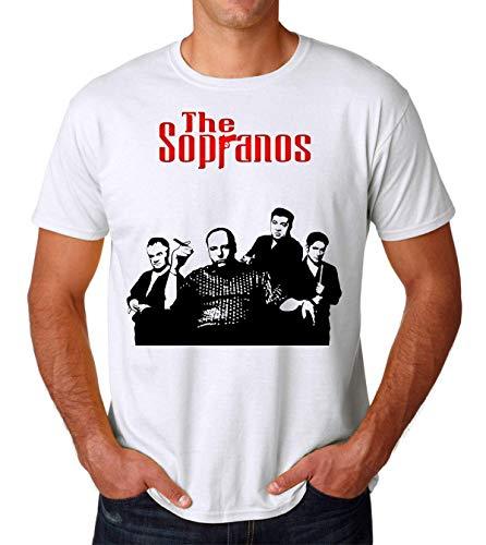 The Sopranos Gandolfini Poster Men's T-Shirt Herren Tshirt Large