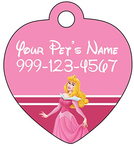Princess Aurora Sleeping Beauty Pet Id Tag for Dogs & Cats Personalized w/ Name & Number