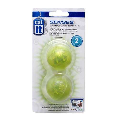 Catit 50776 beleuchteter Ball für Senses Spielschienen, 2er Pack