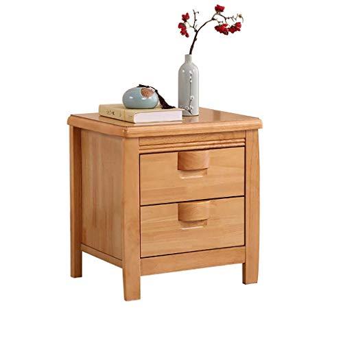 Living Equipment Mesa de noche de madera rectangular moderna con 2 cajones para almacenamiento Mesa auxiliar Mesa decorativa para espacios pequeños Muebles de dormitorio Decorm Estante multifunción