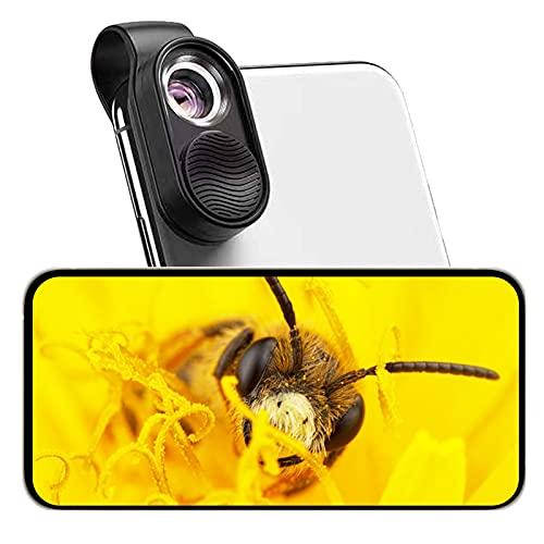 LED Handy Mikroskop mit HD optischer Linse, 100x Taschengröße Handy Mikroskop kompatibel mit 98% Smartphone, Telefon Mikroskop tragbar für Kinder um die Mikrowelt zu entdecken.