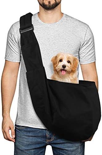 YUDODO Pet Dog Sling Carrier Bag Adjustable Padded Strap Dog Purse Tote Hand Free Safe Mesh product image