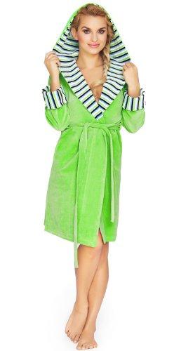 Wanmar Accappatoio per Donna Forsythia (Verde, XL)