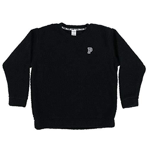 Victoria's Secret Pink Sweatshirt Sherpa Pullover (L, Black)