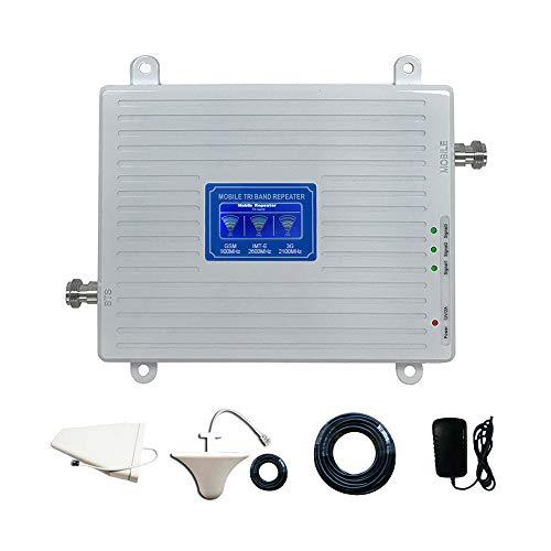 Amplificador de señal de teléfono Celular 4G Repetidor Celular, gsm/WCDMA/IMT-E Amplificador de señal de teléfono móvil multifrecuencia Pantalla de Oficina HD, Kit de Equipo electrónico