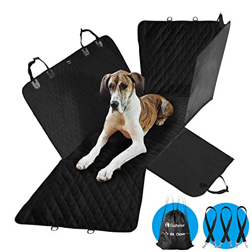 GoPetee Dog Covers for Car Resistant Car Seat Cover for Dogs Waterproof Car Seat Anti Slip Protector for Pets Portable for Travel with Safety Buckle